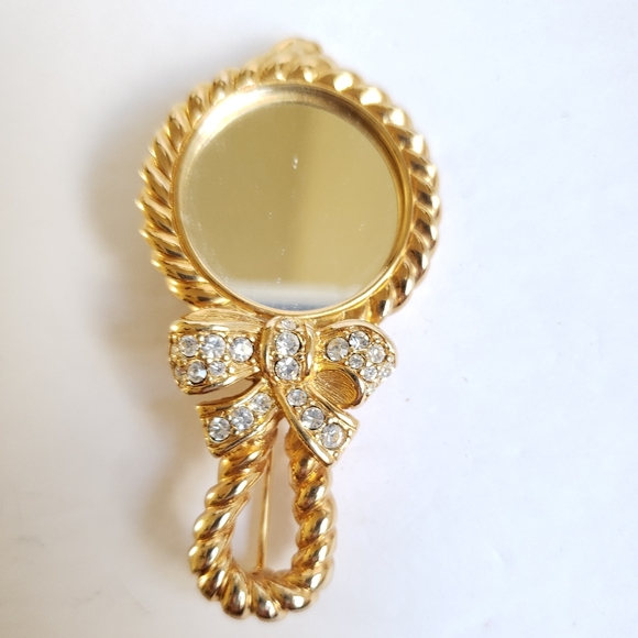 SWAROVSKI brooch with mirror